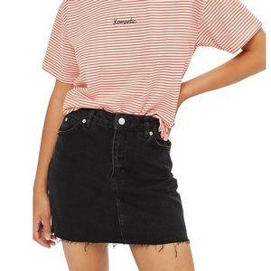 Topshop | Frayed Hem Denim Miniskirt